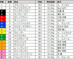 マイルチャンピオンシップ 2017 枠順