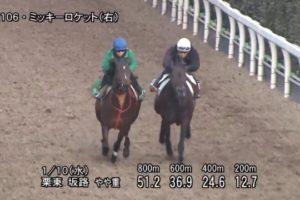 日経新春杯 2018 追い切り